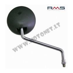 Galinio vaizdo veidrodis 122770570 right black with chromed shaft