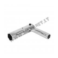 Spark plug tool 16mm sulankstomas
