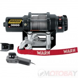 MOOSE 3000 lb winch SYNTHETIC ROPE
