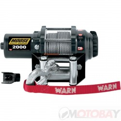 MOOSE 2000 lb winch SYNTHETIC ROPE