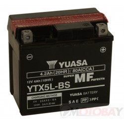 YUASA YTX5L-BS akumuliatorius