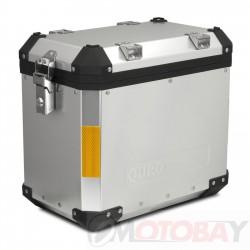 SIKKIA MOTO ALUMINIUM BOX 45L, SILVER, INCL. KEYS AND MOUNTING KIT FOR BRACKET