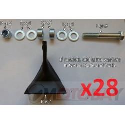IRON BALTIC ECO vejapjovės tarpikliai bei tvirtinimo detalės (28 vnt)
